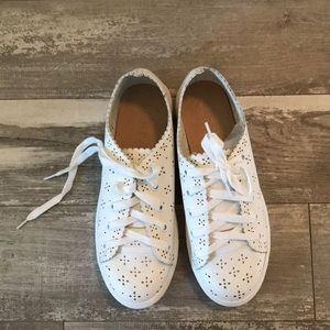 Loft white sneakers size 8. Never worn